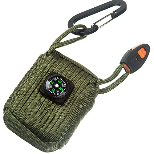 Emergency Survival Kit Grenade 25 Accessories First Aid Kit Survival Wrapped in 550 lb Paracord Survival Grenade Cord for Emergencies