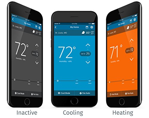 Emerson Sensi Touch Wi-Fi Thermostat with Touchscreen Color Display for Smart Home, ST75, Works with Alexa by Emerson Thermostats (Image #2)