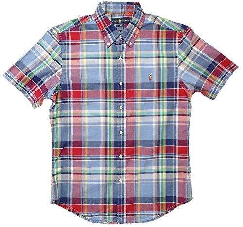 Polo Ralph Lauren Mens Slim Fit Short Sleeve Oxford Shirt