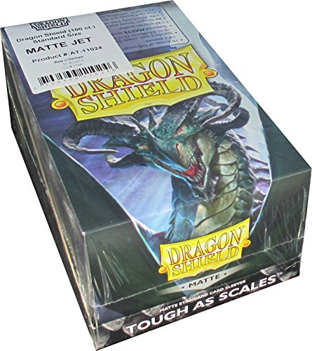 Dragon Shield Matte Jet Standard Size Card Sleeves Display Box [10 - Shield Jet