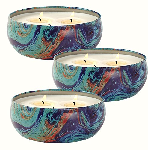 LA JOLIE MUSE Citronella Candles Set 3, 14.6 oz Each Scented Candle Natural Soy Wax, Outdoor and Indoor