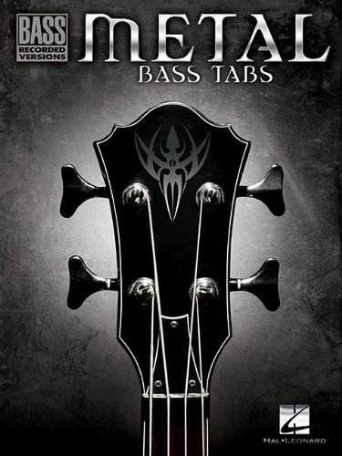 Bass Recorded Versions Songbook - Metal Bass Tabs (Bass Recorded Versions)