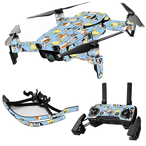 MightySkins Skin for DJI Max Coverage - Puppy Party | Protective, Durable, and Unique Vinyl Decal wrap Cover | Easy to Apply, Remove, and Change Styles | Made in The USA
