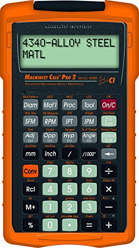 Calculated Industries 4088 Machinist Calc Pro 2 Advanced Machining Math with Materials by Calculated Industries