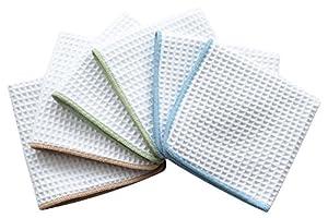 Sinland Thick Microfiber Waffle Weave Dish Cloths Dishcloths Washcloths Facial Cloths