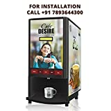 Cafe DESIRE Coffee and Tea Vending Machine - 2 LANE (Platinum Plan on Rent and Maintenance for 24 Months)