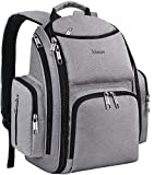 Diaper Bag Backpack, Large Multifunction Waterproof Travel Backpacks for Mom/Dad with Insulated Pockets, Changing Pad,...