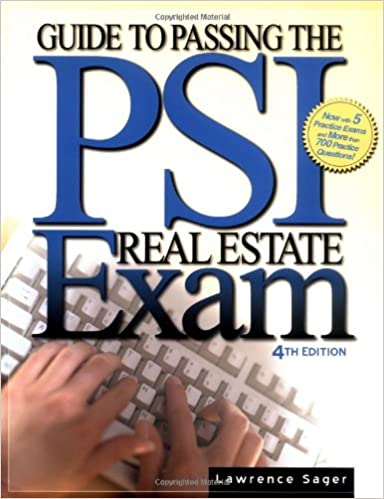 guide to passing the psi real estate exam lawrence sager