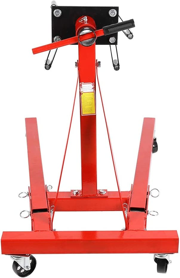 Heavy Duty 2000-LB 900KG Foldable Engine Stand Mobile Engine Cart Motor Lift Engine Bracket Stand 2000lbs