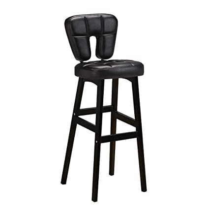 Fabulous Amazon Com Wooden Bar Stools Upholstered Leather Dining Forskolin Free Trial Chair Design Images Forskolin Free Trialorg