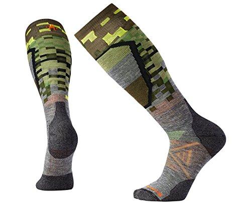 Smartwool Men's PhD Ski Medium Pattern Socks (Medium Gray) Medium