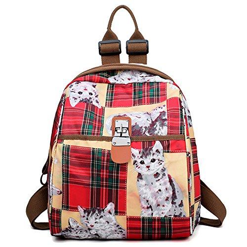 Print Pattern D Backpack Women Bag Bag Bag Casual Backpack Shoulder Crossbody Satchel Waterproof Oxford Messenger Colorful r1rpFxv