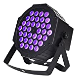 PTVWIRE Black Lights, UV Leds Bar 36x1W with IR Remote Control Sound Activated DMX Par Light Stage Lighting for DJ Disco Christmas Halloween Room Decoration Show (Purple)