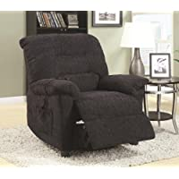 Dark Grey Chenille Fabric Power Living Room Recliner Chair