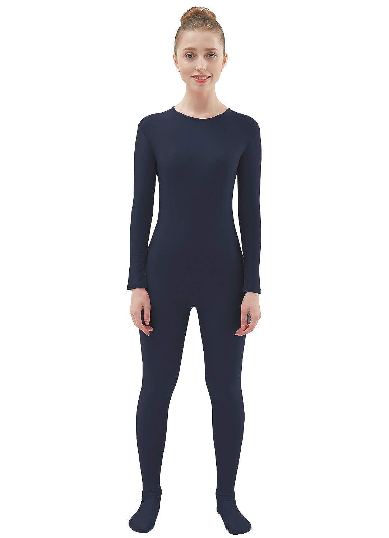 Ensnovo Womens Lycra Spandex One Piece Unitard Full Bodysuit Zentai Suit Costume