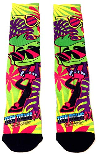 DC Comics Teen Titans Go! To The Movies Beast Boy Sublimated Crew Socks (Teen Go Shoes Titans)