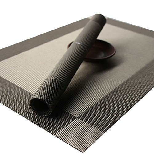 BeautiLife PVC Placemats Washable Table Mats Placemats for Kitchen Dining Table Set of 4