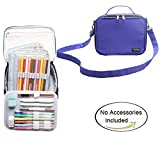 Teamoy Colored Pencils Case, Travel Gadget Bag with Handle and Shoulder Strap, Stylish and Multi-purpose, Perfect Size for Travel or Daily Use--NO Pencils included, Purple