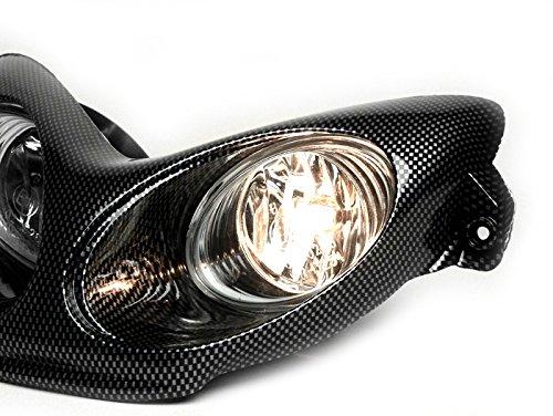 Scheinwerfer BGM Yamaha Aerox MBK Nitro 50 ccm carbon style