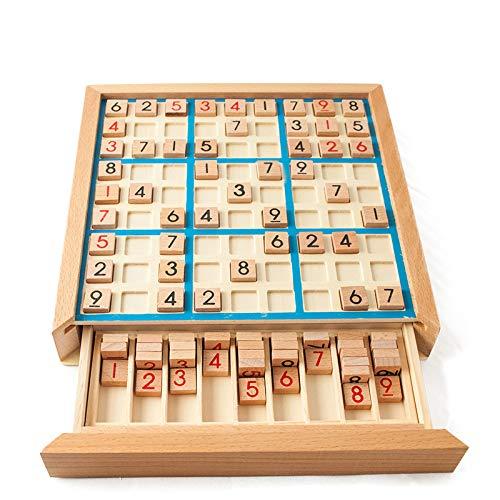 Setokaya 知育玩具 パズル 木製 数独 ナンプレ ナンバープレース 推理ゲーム 卓上ゲーム 9ブロック キッズ 子供 教育玩具 おもちゃ 大人 ボードゲーム SDYX-01