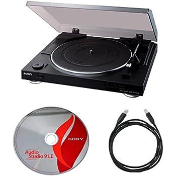 Sony PSLX300USB USB Stereo Turntable + Audio Studio 9 + Usb Cable