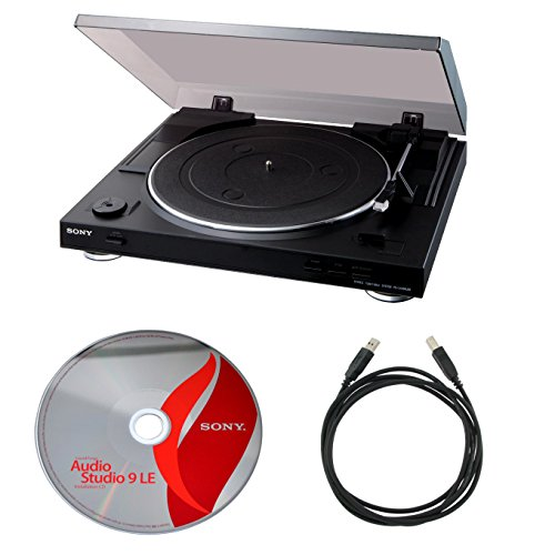 Sony PSLX300USB USB Stereo Turntable + Audio Studio 9 + Usb Cable