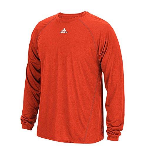 Adidas Climalite Mens Long Sleeve Training Tee M Orange