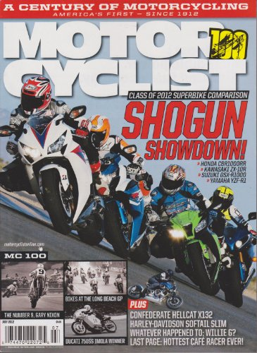 Motorcyclist Magazine (July 2012) for sale  Delivered anywhere in USA