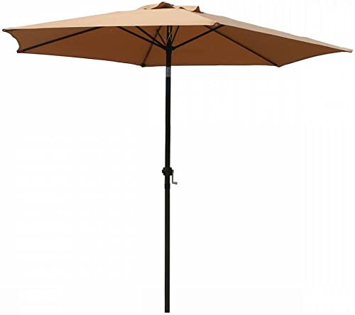 FDW Patio Umbrella 9' Aluminum Outdoor Patio Market Umbrella Tilt W/Crank