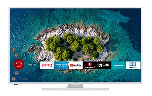 HITACHI U55K6100W 139 cm (55 Zoll) Fernseher (4K Ultra HD, HDR10, Dolby Vision HDR, Triple Tuner, Smart TV, Works with…