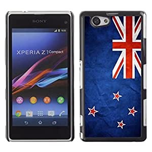 Shell-Star ( National Flag Series-New Zealand ) Fundas Cover Cubre Hard Case Cover para SONY Xperia Z1 mini
