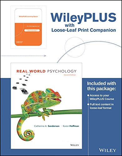 Real World Psychology  2Nd Edition Wileyplus Learning Space Registration Card   Loose Leaf Print Companion
