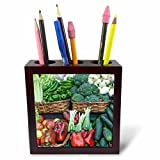 3dRose Danita Delimont - Markets - Spain, San Sebastian, Vegetables for Sale at Farmers Market - 5 inch tile pen holder (ph_257874_1)