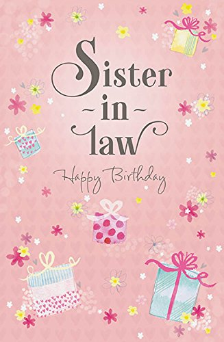 Amazon Sister In Law Glitter Happy Birthday Greeting Card