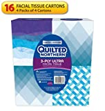Quilted Northern Ultra Facial Tissue 65 tissue Cube – 16 Count