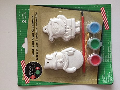 Square Paint (Crafter's Square Paint-Your-Own Ornaments (Snowman/Santa))