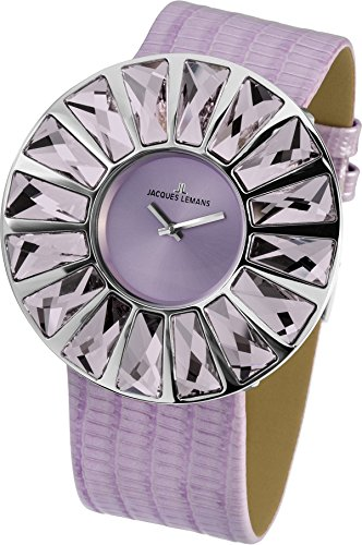 Jacques Lemans Women's 1-1638F Flora Analog with Swarovski Elements Watch