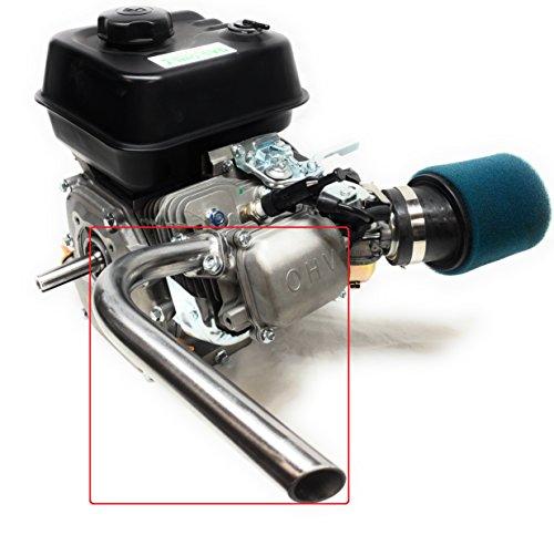 - Mini Bike Exhaust Header Pipe for: Predator 212cc, Honda GX160 GX200, DuroMax 7