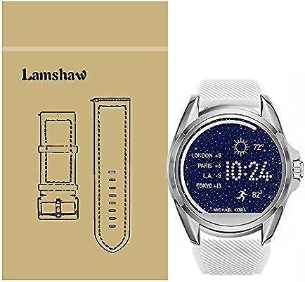 Lamshaw Classic - Correa de silicona de repuesto para reloj inteligente Michael Kors