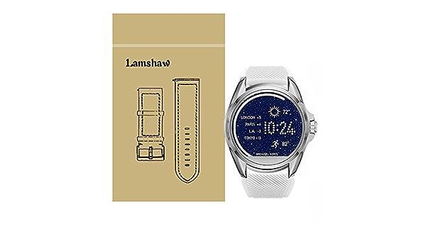 Lamshaw Classic - Correa de silicona de repuesto para reloj inteligente Michael Kors: Amazon.es: Electrónica
