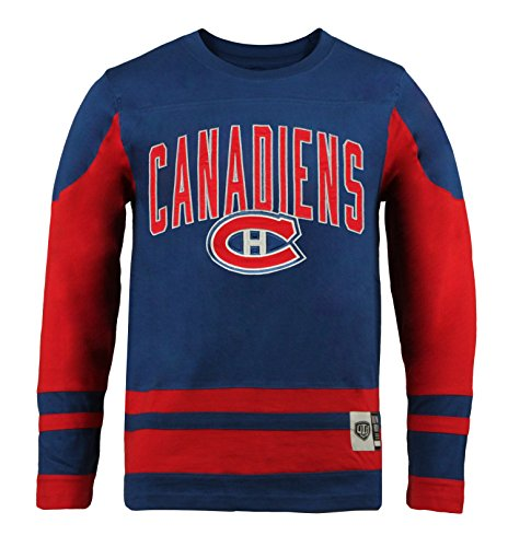 Old Time Hockey NHL Montreal Canadiens Youth Dufferin Crew, Large, Red (Montreal Hockey Nhl)