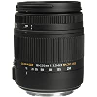 Sigma 18-250mm f3.5-6.3 DC MACRO OS HSM for Canon Digital SLR Cameras (Certified Refurbished)