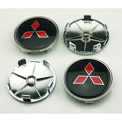 4pcs W025 68mm Car Styling Accessories Emblem Badge Sticker Wheel Hub Caps Centre Cover Black MITSUBISHI LANCER PAJERO OUTLANDER ASX Galant Eclipse Spyder