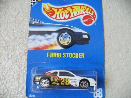 Hot Wheels T-bird Stocker All Blue Card # 88 White/black with Ultra Hots