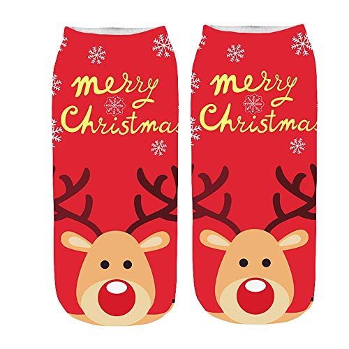 01ea8005b Women s Cute Socks Christmas Socks Xmas Holiday Gift Socks Cotton Soft  Casual Warm Socks Girl kawaii