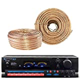 Technical Pro RX504 1500-Watt - 2-Channel - Integrated Amplifier & Pre-Amp Stereo Receiver - Bundle Combo With Enrock 100-Feet 18-Gauge Speaker Wire