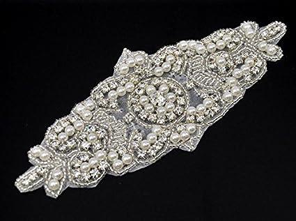 Shinybeauty Rhinestone Applique - Shinybeauty Rhinestone Applique y cinturón Sash para accesorios de vestidos