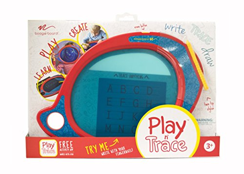 Boogie Board Play and Trace LCD Writing Tablet Clear See-Through Writing Surface for Kids to Write, Trace, and Draw eWriter Ages - Letter Kinds Writing
