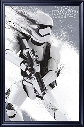Amazon.com: FRAMED Star Wars Stormtrooper 24x36 Poster Dry Mounted ...