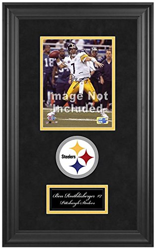 Pittsburgh Steelers Deluxe 8x10 Team Logo Frame by Mounted Memories